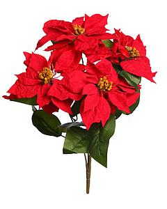 POINSETTIA ARTIFICIAL CON 4 FLORES 47CM